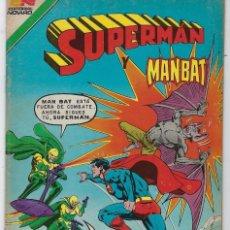 Tebeos: SUPERMAN Y MANBAT - SERIE AVESTRUZ: AÑO VIII - Nº 3-98 - JUNIO 24 DE 1982 *** EDITORIAL NOVARO ***. Lote 239362840