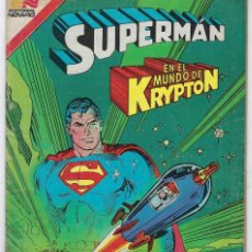 Tebeos: SUPERMAN MUNDO DE KRYPTON - SERIE AVESTRUZ: AÑO VII - Nº 3-78 - SEP. 4 DE 1981 *EDITORIAL NOVARO*. Lote 239365795