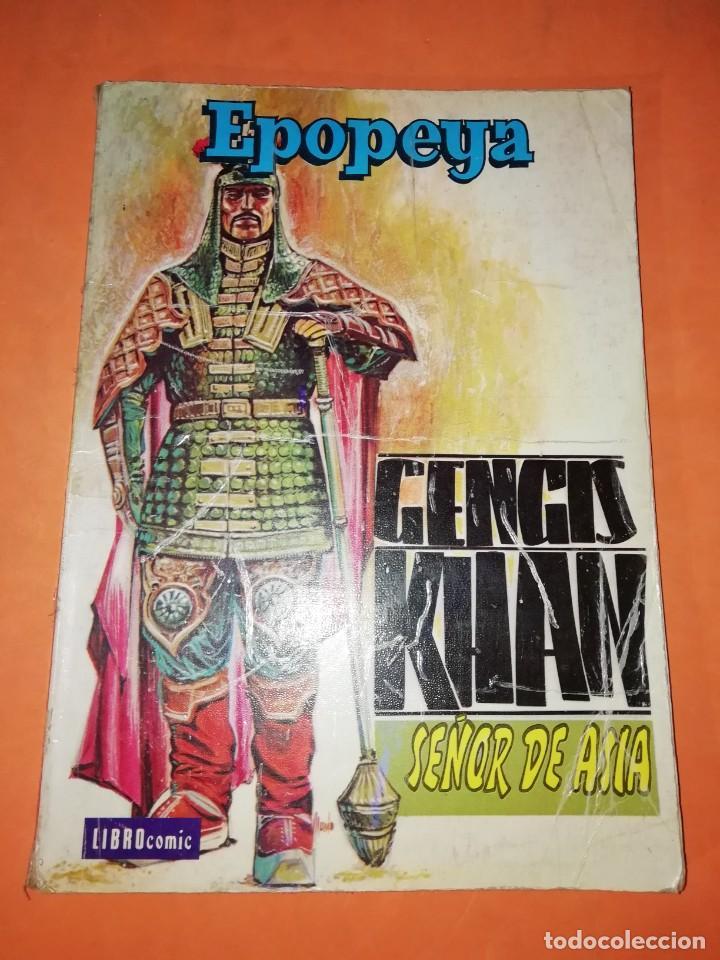 GENGIS KHAN. SEÑOR DE ASIA. COLECCION EPOPEYA. LIBRO COMIC. EDITORIAL NOVARO 1960 (Tebeos y Comics - Novaro - Epopeya)