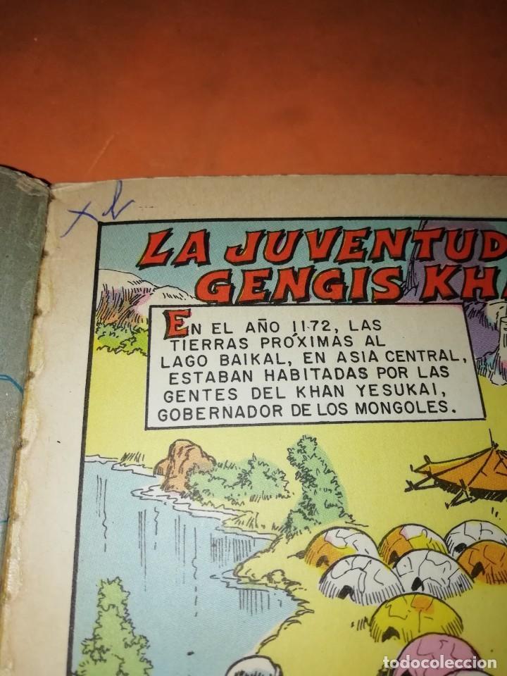 Tebeos: GENGIS KHAN. SEÑOR DE ASIA. COLECCION EPOPEYA. LIBRO COMIC. EDITORIAL NOVARO 1960 - Foto 5 - 239466410