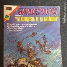 Tebeos: LA CONQUISTA DE LA ANTÁRTIDA GRANDES VIAJES Nº 120 14 NOVIEMBRE 1972 NOVARO. Lote 239583365