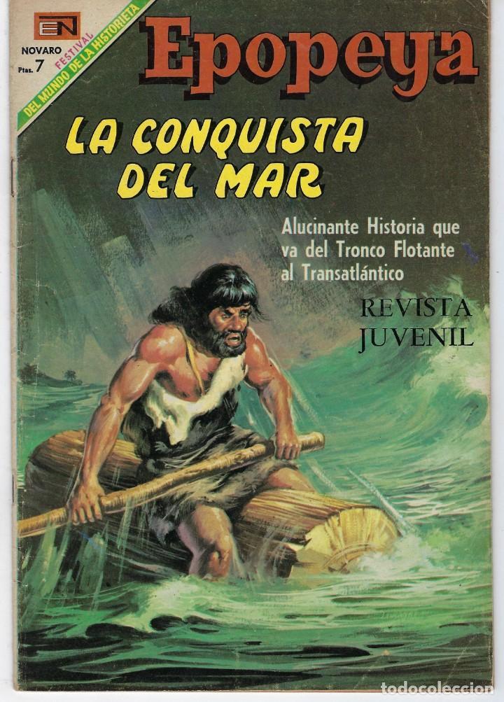EPOPEYA: LA CONQUISTA DEL MAR - AÑO XI - Nº 132 - MAYO 1º DE 1969 ** NOVARO ** (Tebeos y Comics - Novaro - Epopeya)
