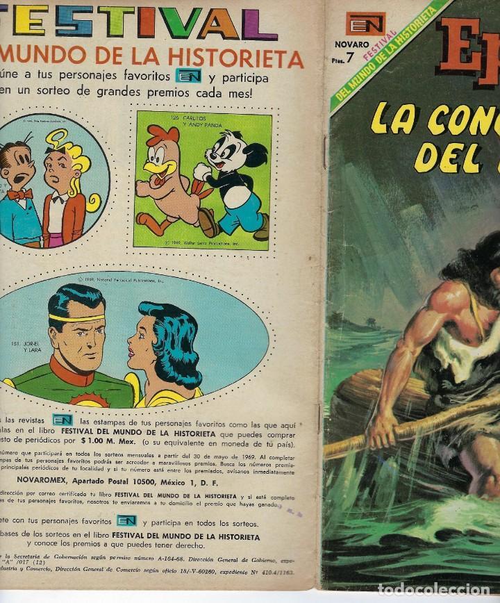 Tebeos: EPOPEYA: LA CONQUISTA DEL MAR - AÑO XI - Nº 132 - MAYO 1º DE 1969 ** NOVARO ** - Foto 3 - 240615770