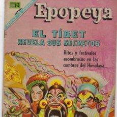 Tebeos: EPOPEYA: EL TIBET REVELA SUS SECRETOS - AÑO X - Nº 120 - MAYO 1º DE 1968 ** NOVARO **. Lote 240616085