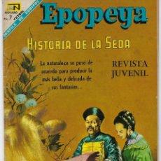 Tebeos: EPOPEYA: HISTORIA DE LA SEDA - AÑO X - Nº 117 - FEBRERO 1º DE 1968 ** NOVARO **. Lote 240616520