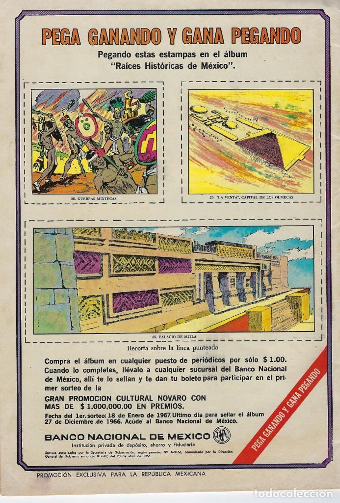 Tebeos: EPOPEYA: EL PAJARO MADRUGADOR - AÑO IX - Nº 101 - OCTUBRE 1º DE 1966 ** NOVARO ** - Foto 2 - 240617315