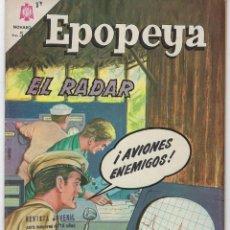 Tebeos: EPOPEYA: EL RADAR - AÑO VII - Nº 87 - AGOSTO 1º DE 1965 ** NOVARO **. Lote 240619155