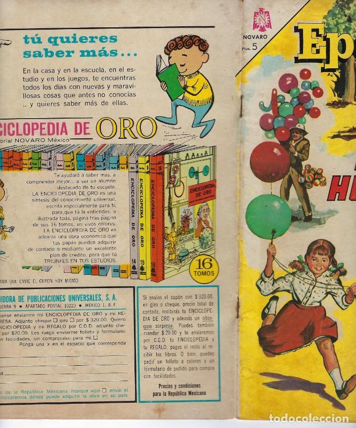 Tebeos: EPOPEYA: EL HULE - AÑO VII - Nº 81 - FEBRERO 1º DE 1965 ** NOVARO ** - Foto 3 - 240620120