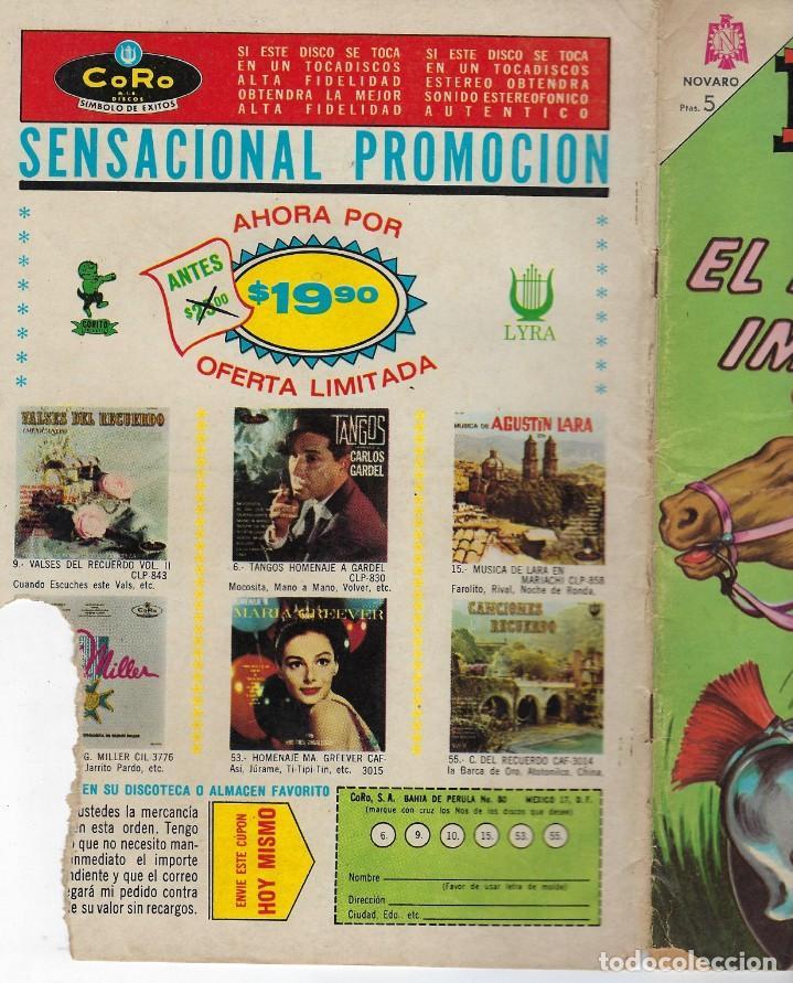 Tebeos: EPOPEYA: EL FIN DE UN IMPERIO - AÑO VII - Nº 80 - ENERO 1º DE 1965 ** NOVARO ** - Foto 3 - 240620560