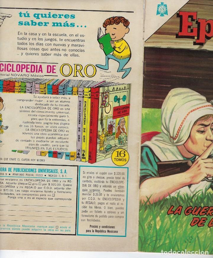 Tebeos: EPOPEYA: LA GUERRA DE LOS BOERS - AÑO VII - Nº 79 - DICIEMBRE 1º DE 1964 ** NOVARO ** - Foto 3 - 240621075