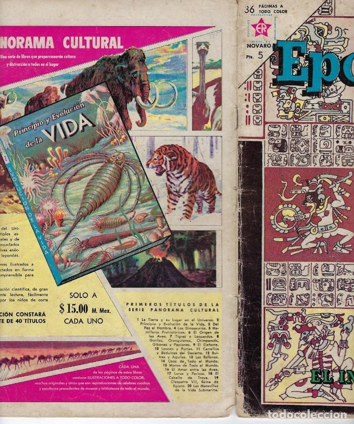 Tebeos: EPOPEYA: EL IMPERIO MAYA - AÑO VI - Nº 63 - AGOSTO 1º DE 1963 ** NOVARO ** - Foto 3 - 240621970