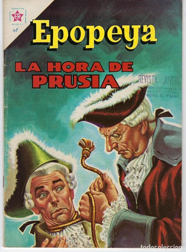 EPOPEYA: LA HORA DE PRUSIA - AÑO IV - Nº 48 - MAYO 1º DE 1962 ** NOVARO ** (Tebeos y Comics - Novaro - Epopeya)