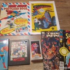 Tebeos: LOTE VARIOS ARTICULOS VINTAGE SUPERMAN-CARDS-LIBRO DE POSTALES-PUZZLE-COMICS. Lote 241937140