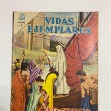 Tebeos: VIDAS EJEMPLARES. SANTA GENOVEVA. PATRONA DE PARIS. EDITORIAL NOVARO.. Lote 242096625