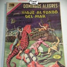 Tebeos: DOMINGOS ALEGRES Nº 818, VIAJE AL FONDO DEL MAR, ED. NOVARO AÑO 1969, ER, 6F. Lote 242250305