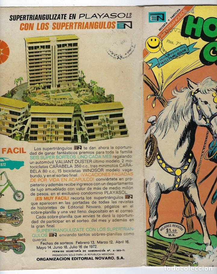 Tebeos: HOPALONG CASSIDY - AÑO XVIII - Nº 209 - ABRIL 24 DE 1972 **EDITORIAL NOVARO** - Foto 3 - 243547985