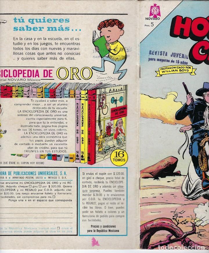 Tebeos: HOPALONG CASSIDY - AÑO XI - Nº 122 - FEBRERO 1º DE 1965 **EDITORIAL NOVARO** - Foto 3 - 243550150