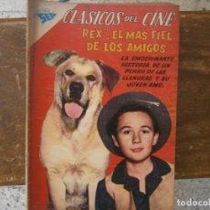 """BDs: CLASICOS DEL CINE # 28 """"REX"""" EL MAS FIEL DE LOS AMIGOS EDITORIAL SEA NOVARO MEXICO 1959. Lote 243894120"""