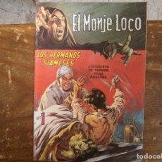 Livros de Banda Desenhada: EL MONJE LOCO # 1 LOS HERMANOS SIAMESES ED. TEMPORAL MEXICO 1967. Lote 243906575