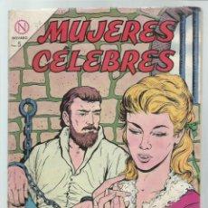 Tebeos: MUJERES CÉLEBRES 37: CATALINA MANSDOTTER, REINA DE SUECIA, 1964, NOVARO, BUEN ESTADO. COLECIÓN A.T.. Lote 243946290