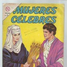 Tebeos: MUJERES CÉLEBRES 36: RUT MOABITA, 1964, NOVARO, MUY BUEN ESTADO. COLECIÓN A.T.. Lote 243946510