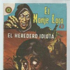 Tebeos: EL MONJE LOCO 43, 1968, EDITORIAL TEMPORAE. COLECCIÓN A.T.. Lote 243955405