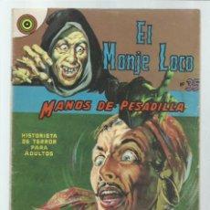 Tebeos: EL MONJE LOCO 35: MANOS DE PESADILLA, 1968, EDITORIAL TEMPORAE. COLECCIÓN A.T.. Lote 243956805