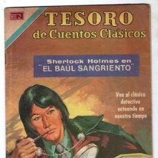 Tebeos: 1971 TESORO DE CUENTOS CLASICOS # 161 NOVARO SHERLOCK HOLMES EL BAUL SANGRIENTO MUY BUEN ESTADO. Lote 243986755