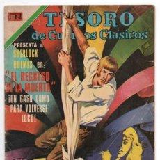 Tebeos: 1971 TESORO DE CUENTOS CLASICOS # 174 SHERLOCK HOLMES EL REGRESO DE LA MUERTA BUEN ESTADO. Lote 243988245