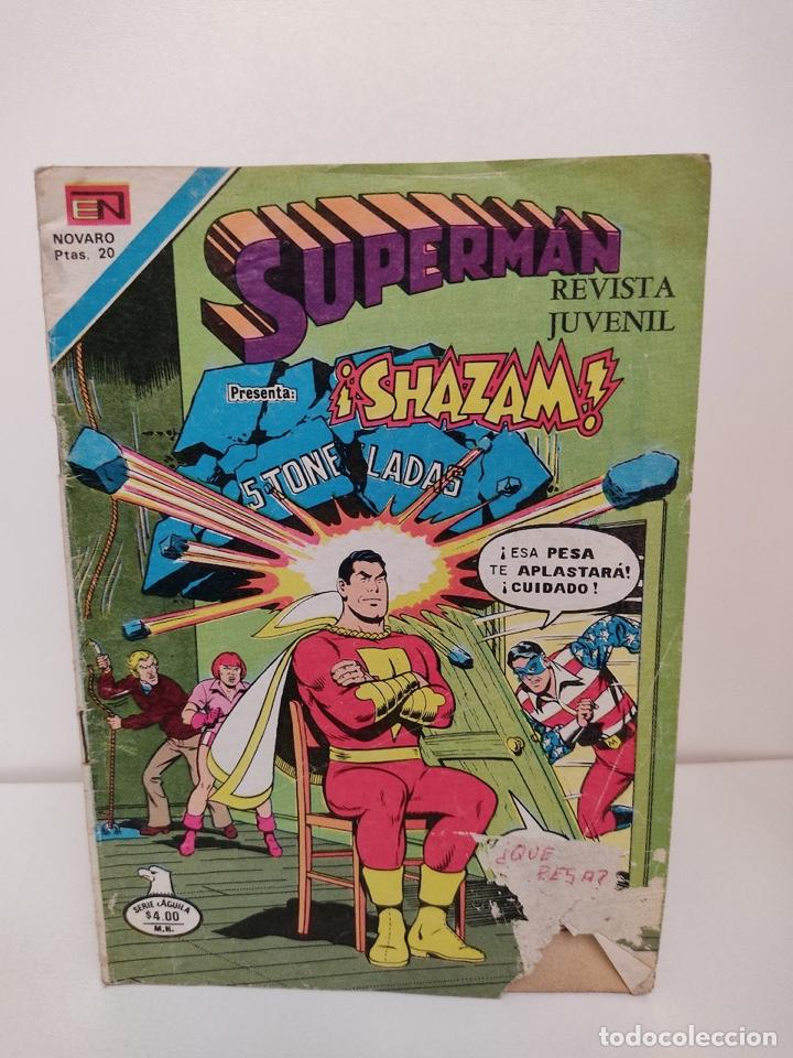 SUPERMAN Y SHAZAM NUMERO 1171 - NOVARO CAPITAN MARVEL (Tebeos y Comics - Novaro - Superman)