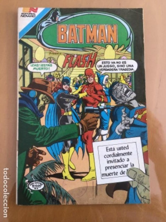 BATMAN - Nº 3 - 24. NOVARO - SERIE AVESTRUZ. 1982. FLASH - EL ULTIMO BAILE. (Tebeos y Comics - Novaro - Batman)