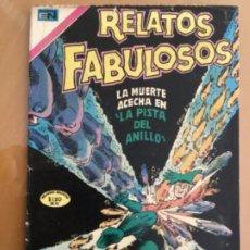 Tebeos: RELATOS FABULOSOS - Nº 137. NOVARO - 1968. LA MUERTE ACECHA LA PISTA DEL ANILLO. Lote 245129270