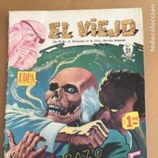 Tebeos: EL VIEJO - Nº 91. EDPA - MEXICO - 1970. EL ABRAZO DE LA MUERTE. TERROR. Lote 245135270