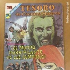 Livros de Banda Desenhada: TESOROS DE CUENTOS CLASICOS, Nº 196. EDITORIAL NOVARO. 1973. EL MUNDO HORRIPILANTE DE LOS VAMPIROS. Lote 245314350