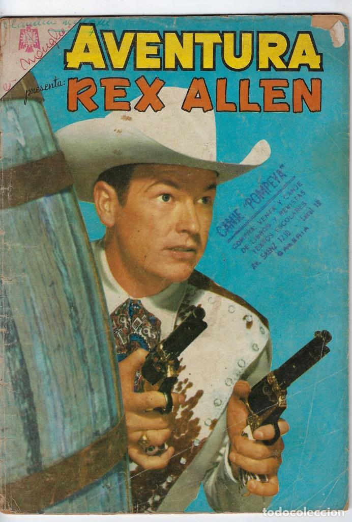 AVENTURA PRESENTA: REX ALLEN - AÑO XII - Nº 401 - SEP. 14 DE 1965 ** EDITORIAL NOVARO ** (Tebeos y Comics - Novaro - Aventura)