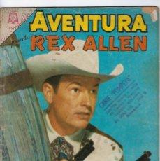 Tebeos: AVENTURA PRESENTA: REX ALLEN - AÑO XII - Nº 401 - SEP. 14 DE 1965 ** EDITORIAL NOVARO **. Lote 245553070