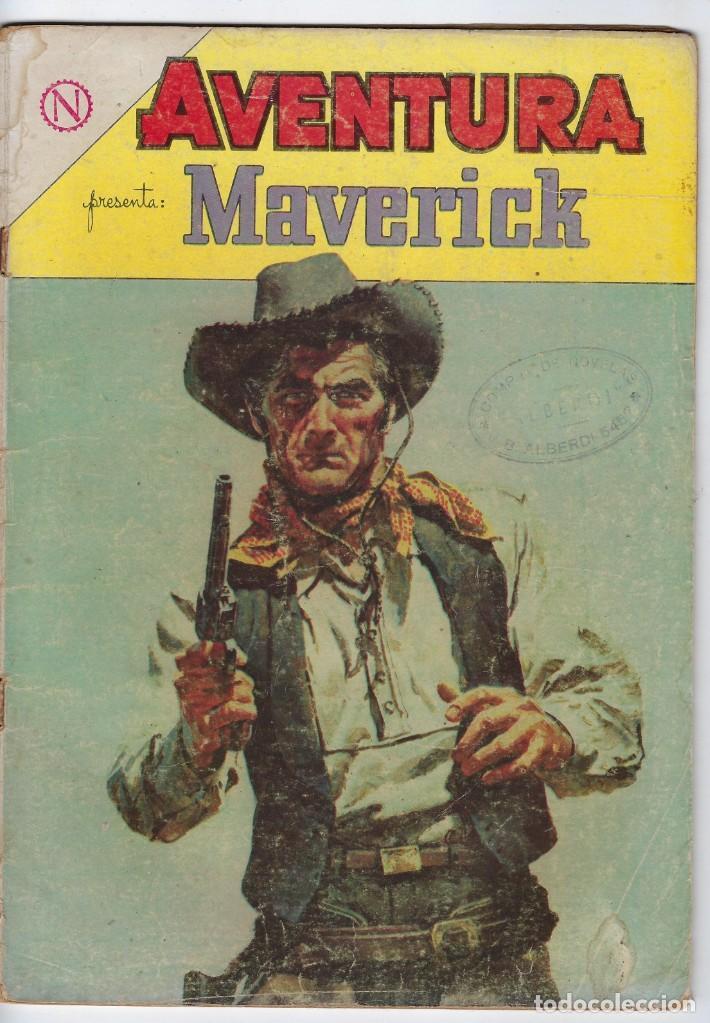 AVENTURA PRESENTA: MAVERICK - AÑO XII - Nº 329 - ABRIL 28 DE 1964 ** EDITORIAL NOVARO ** (Tebeos y Comics - Novaro - Aventura)
