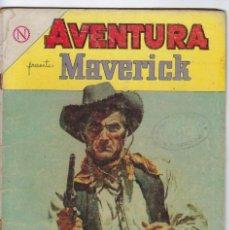 Tebeos: AVENTURA PRESENTA: MAVERICK - AÑO XII - Nº 329 - ABRIL 28 DE 1964 ** EDITORIAL NOVARO **. Lote 245553405