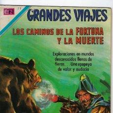 Tebeos: GRANDES VIAJES: LOS CAMINOS DE LA FORTUNA.. AÑO VIII - Nº 87 - ABR. 1º DE 1970 **EDITORIAL NOVARO **. Lote 245557320