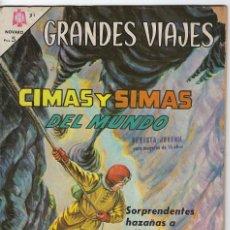 Tebeos: GRANDES VIAJES: CIMAS Y SIMAS DEL MUNDO - AÑO III - Nº 31 - AGOS. 1º DE 1965 ** EDITORIAL NOVARO **. Lote 245558415