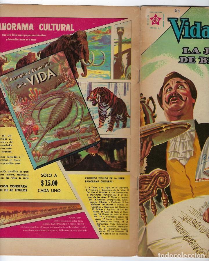 Tebeos: VIDAS ILUSTRES: LA JUVENTUD DE BEETHOVEN - AÑO VII, Nº 84 - ENERO 1º DE 1963 ** EDITORIAL NOVARO ** - Foto 3 - 245560165