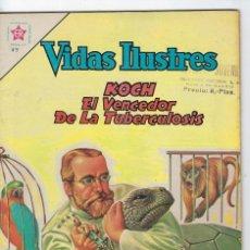 Tebeos: VIDAS ILUSTRES: KOCH EL VENCEDEDOR DE LA... AÑO VII - Nº 79 - AGO. 1º DE 1962 ** EDITORIAL NOVARO **. Lote 245561050