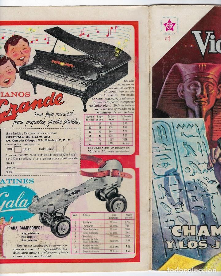 Tebeos: VIDAS ILUSTRES: CHAMPOLLION Y LOS JEROGLÍFICOS - AÑO VI - Nº 67 - AGO. 1º DE 1961 *EDITORIAL NOVARO* - Foto 3 - 245562010