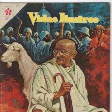 Tebeos: VIDAS ILUSTRES: MAHATMA GANHI - AÑO III - Nº 25 - FEBRERO 1º DE 1958 * EDITORIAL NOVARO *. Lote 245562935