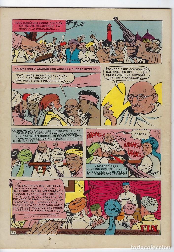 Tebeos: VIDAS ILUSTRES: MAHATMA GANHI - AÑO III - Nº 25 - FEBRERO 1º DE 1958 * EDITORIAL NOVARO * - Foto 2 - 245562935