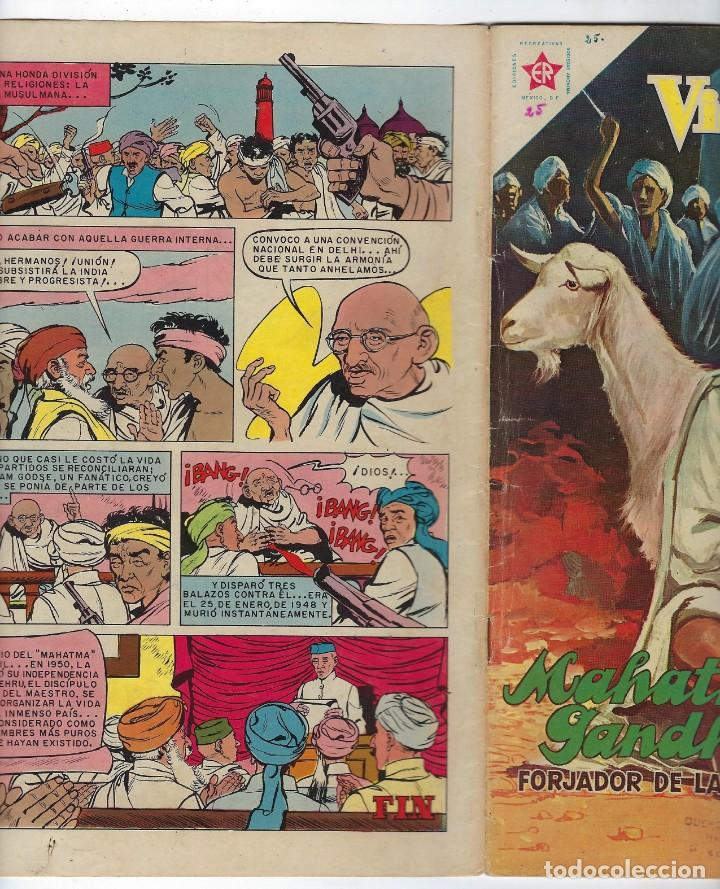 Tebeos: VIDAS ILUSTRES: MAHATMA GANHI - AÑO III - Nº 25 - FEBRERO 1º DE 1958 * EDITORIAL NOVARO * - Foto 3 - 245562935
