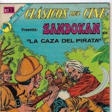 Tebeos: CLÁSICOS DE CINE: SANDOKAN LA CAZA DEL PIRATA - AÑO XVII - Nº 289 - JULIO 16 DE 1973 ** NOVARO **. Lote 245564625