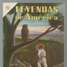 Tebeos: LEYENDAS DE AMÉRICA 62: CUANDO EL BÚHO CANTA, 1961, NOVARO, BUEN ESTADO. COLECCIÓN A.T.. Lote 245566825
