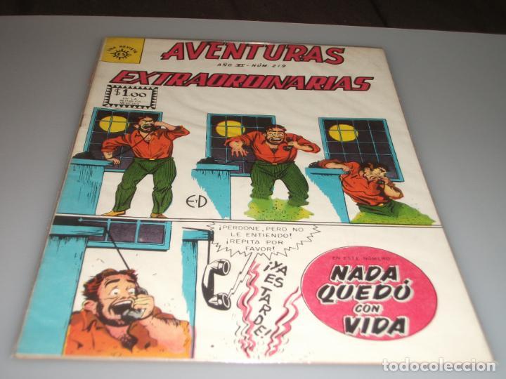 AVENTURAS EXTRAORDINARIAS 219 EDITORIAL SOL (Tebeos y Comics - Novaro - Otros)