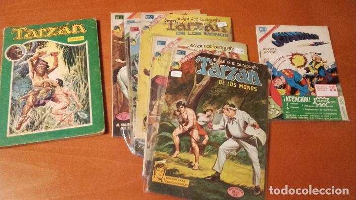 LOTE 9 EJEMPLARES SUPERMAN TARZAN EDITORIAL NOVARO (Tebeos y Comics - Novaro - Tarzán)